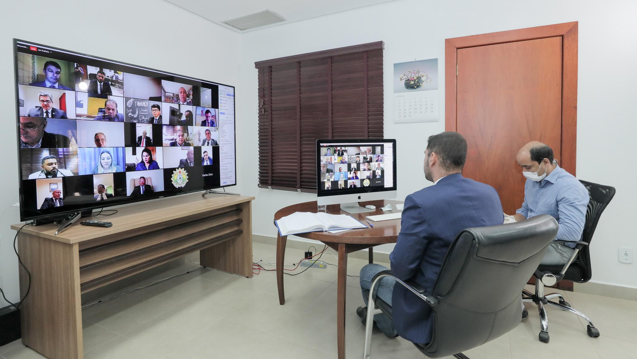 Em sessão extraordinária, Aleac aprova projetos para minimizar crise do Covid-19