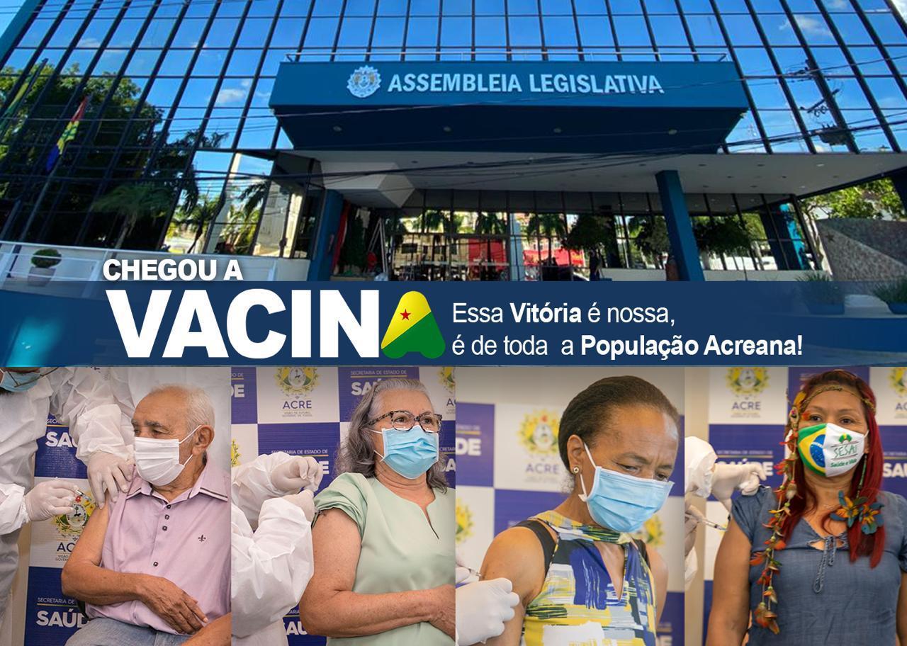 Presidente da Aleac manifesta emoção com a chegada de vacinas em solo acreano