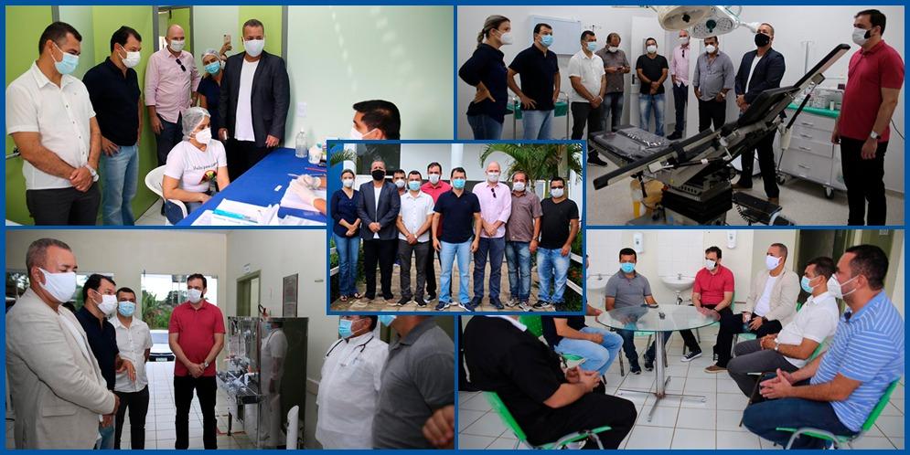 Missão da Comissão Acompanhamento das Ações contra a Covid-19 da Aleac visita municípios do interior