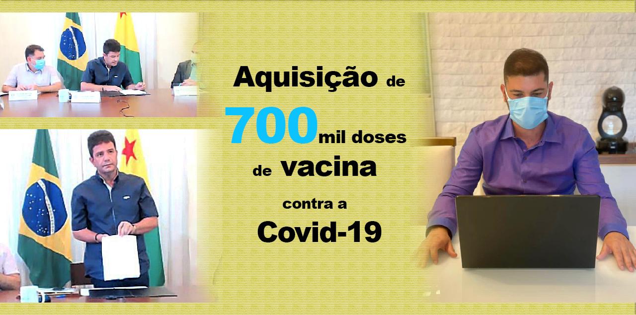 Nicolau Júnior parabeniza Gladson pela aquisição de 700 mil doses de vacina contra a Covid-19