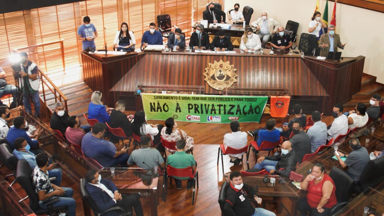 Aleac realiza audiência pública para debater sobre privatização do saneamento básico no Estado